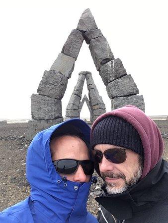 Raufarhofn, IJsland: Freezing cold and windy