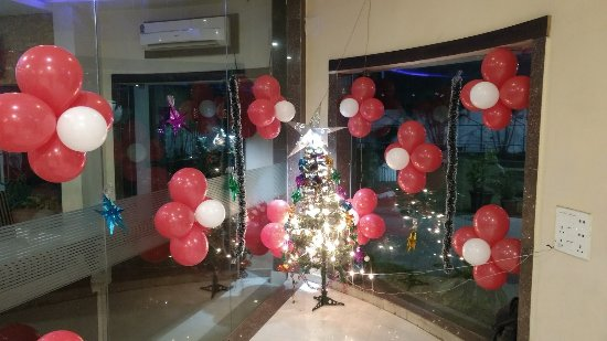 Ambikapur, India: Decorated for X-Mas