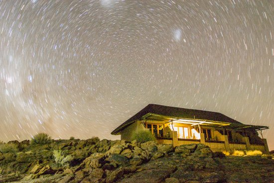 Augrabies Falls National Park, Republika Południowej Afryki: Lodge at night under stars