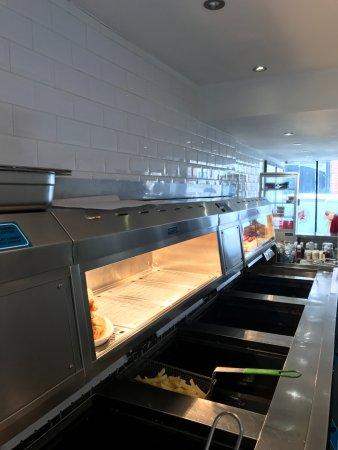 Redbourn, UK: All fryers ready to go