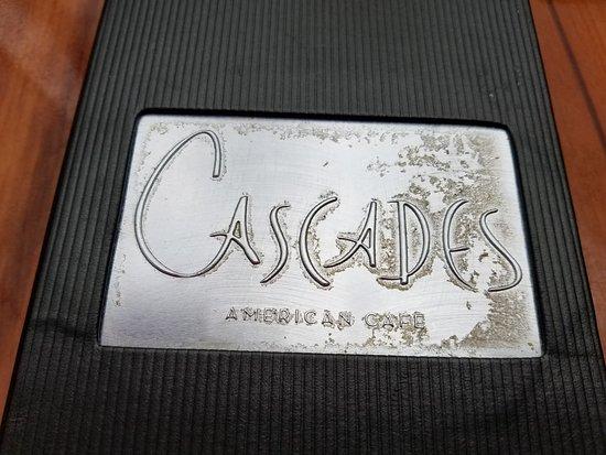 Cascades American Cafe Menu