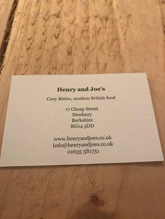 Henry and Joe's
