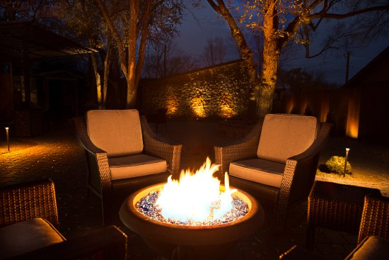 Chino Valley, AZ: View of the fire-pit in the Garden Courtyard  - outdoor patio & event space