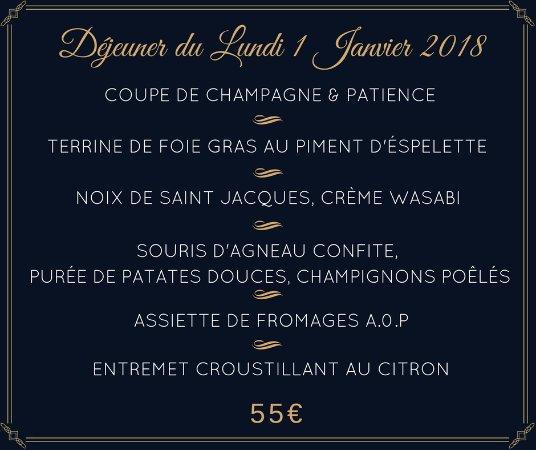 Saint-Seurin-de-Cadourne, France: Déjeuner du Lundi 1er Janvier 2018.
