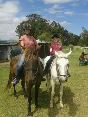 Wilderness, South Africa: A lovely ride on well-schooled horses. Harry is a perfect ride for young riders
