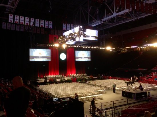 Xfinity Center: Xfinity during graduation