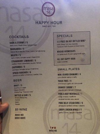 Masa 14: menu