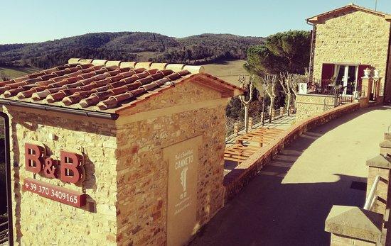 Monteverdi Marittimo, Italia: il B&B Canneto è situato nella cinta muraria esterna del Castello di Canneto