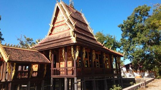 Salavan, Laos: The historic temple