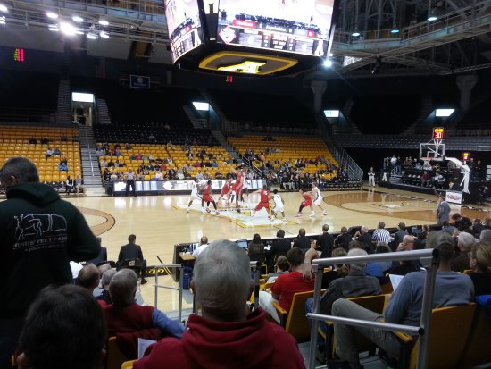 Boone, NC: Tip-off of an App State basketball game (small crowd day after Thanksgiving)