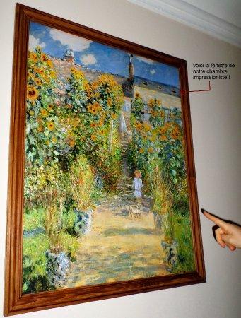 Tableau De Monet Montrant Le Velux De Notre Chambre Picture Of La Maison De Claude Monet A Vetheuil Tripadvisor