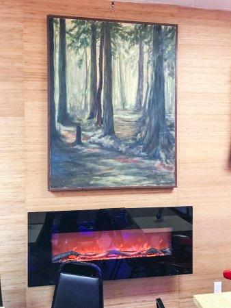 Silverdale, WA: Painting above electronic stove