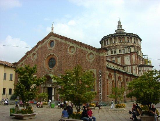 Santa Maria delle Grazie: サンタ マリア デッレ グラツィエ教会 (イタリア ミラノ)