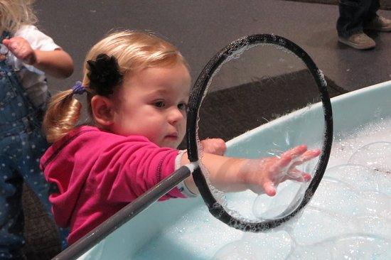 "Explora Science Center and Children's Museum of Albuquerque: Explora's ""Curious Bubbles"" room attracts visitors of all ages!"