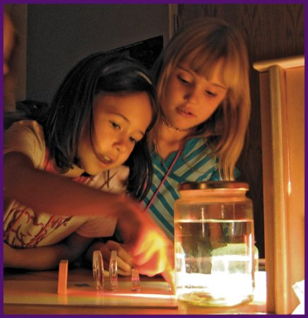 Explora Science Center and Children's Museum of Albuquerque: Campers experimenting with the properties of light.