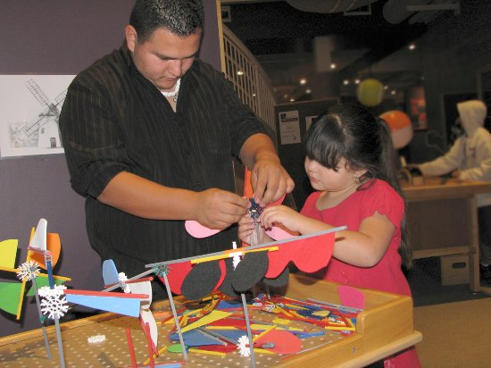Explora Science Center and Children's Museum of Albuquerque: Building and testing different windmills in the area about moving air.