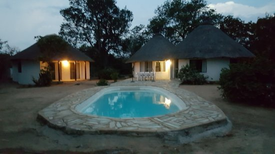 Maduma Boma Game Conservancy: View of the Kudu Chalet in the evening