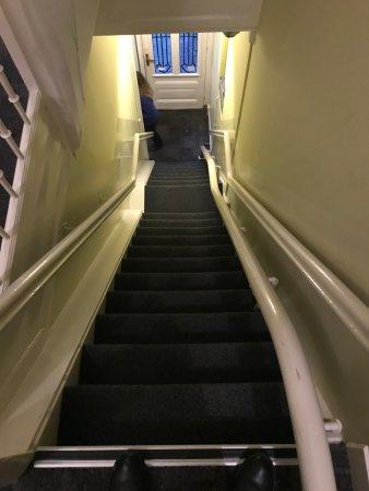 't Hotel: otel odalarına çıkan ilk kulu merdiven