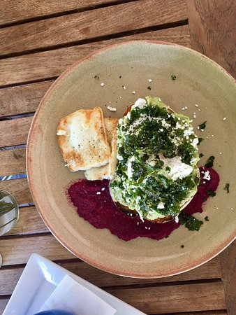 Corner Store Cafe: Smashed Avocado lunch with halloumi