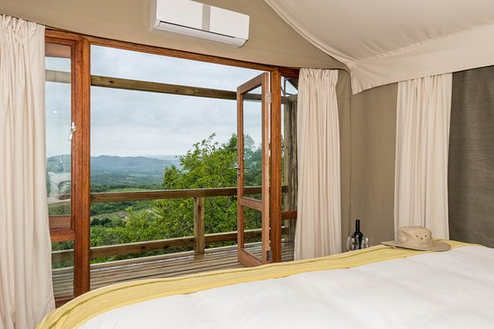 White River, South Africa: View from the bed of the Luxury Safari Tent