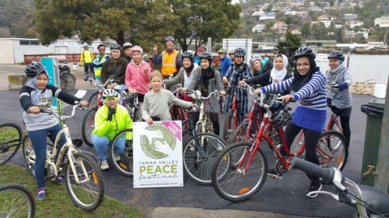 Invermay, Australia: OYBT's  joins in Launceston's community Peace Ride.