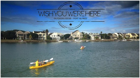 Port Alfred, South Africa: Canoe the marina