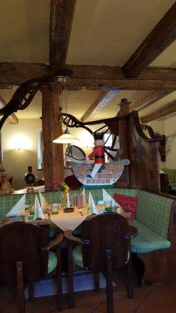 Olbernhau, Γερμανία: Unser Tisch im Restaurant