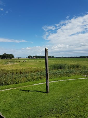 Schokland, The Netherlands: Waterline marker