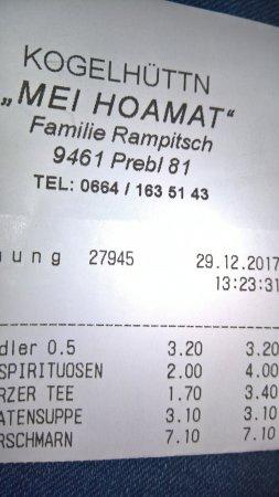 Prebl, النمسا: Preis,-Leistungsverhältnis