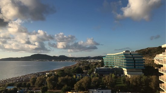 Pegasos Deluxe Beach Hotel: Aussicht Meerblickzimmer