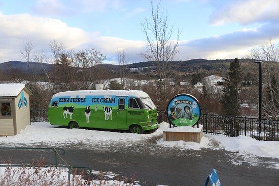 Waterbury, VT: Bus for summer vending.