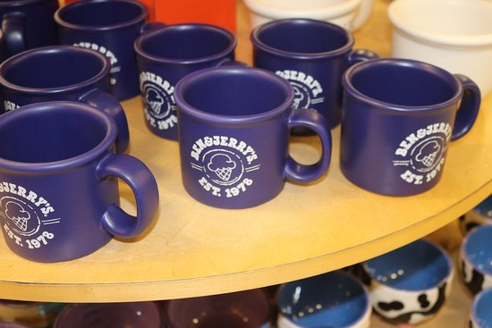 Waterbury, VT: Mugs for sale.