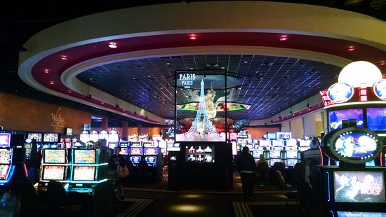 Thackerville, OK: Winstar Casino - interior gaming area in the Paris section