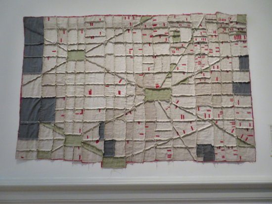 Renwick Gallery : Foreclosure quilt--map of DC