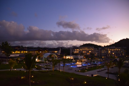 Cap Estate, St. Lucia: evening view from balcony block 4 floor 2