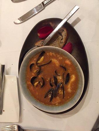 La Calamine, België: bretonische Fischsuppe