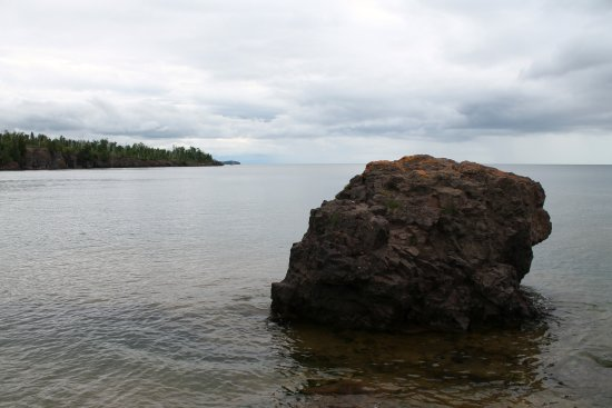 Two Harbors, MN: View from Agate Beach