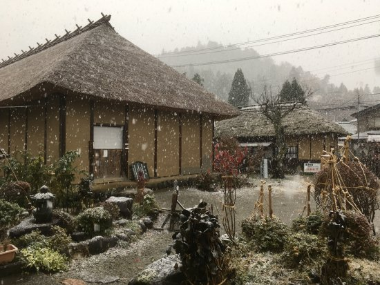 It was snowing when we visited Former Takizawa Honjin.