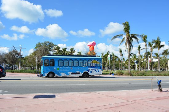 The Free Trolley Takes You From North To South On Miami