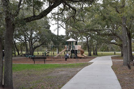 Saint Simons Island, GA: Shot of the playground from the east.