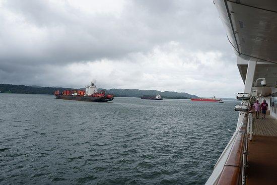Gatun Lake: Ships at Anchor in the lake