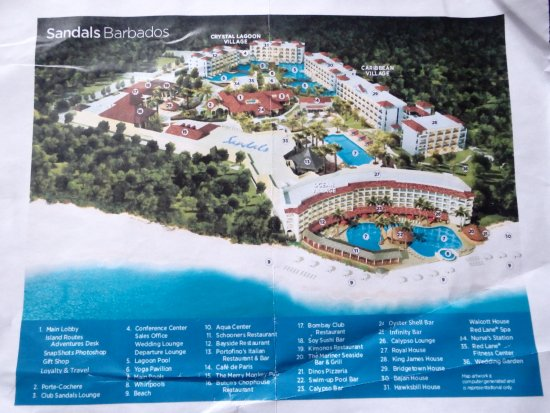 Resort map since the Sandals website doesnt have a map for the