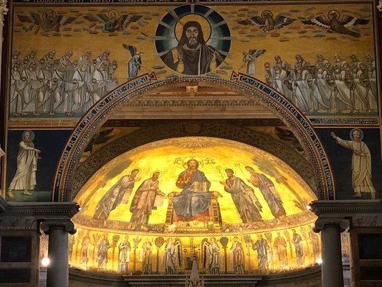 Abbazia di San Paolo fuori le Mura : Triumphbogen und Apsis
