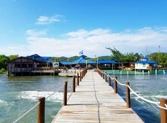 French Harbour, Honduras: View from the pier at the Buccaneer
