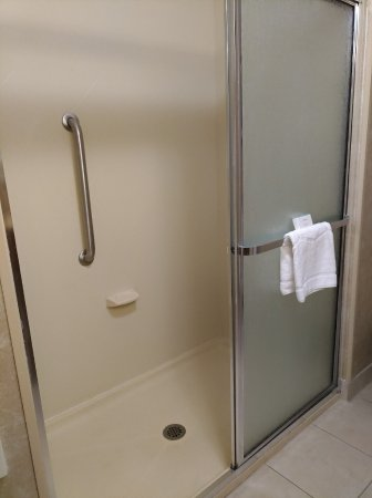 The large walk-in shower.