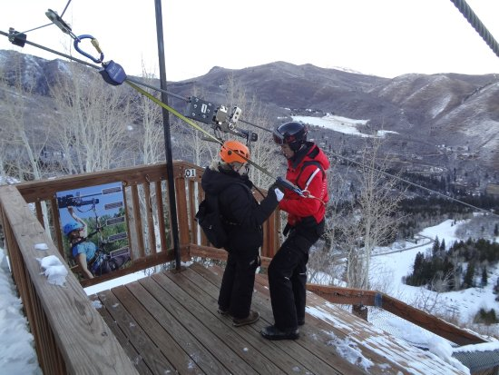 Ready to FLY...safely and high over the Sundance Resort.