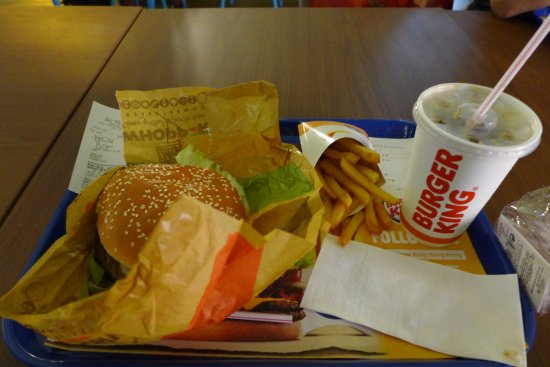 Burger King: Double whopper meal