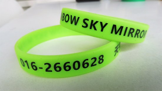 Sasaran Beach: Wristband for identify the visitors going to Sky Mirror Beach