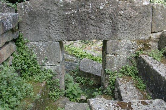 Fiesole, İtalya: Un dintel de 'pietra serena'