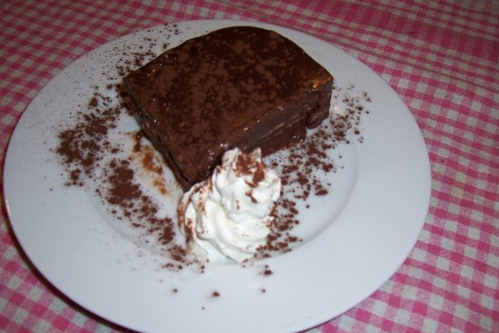 Dossena, Italie : budino al cioccolato